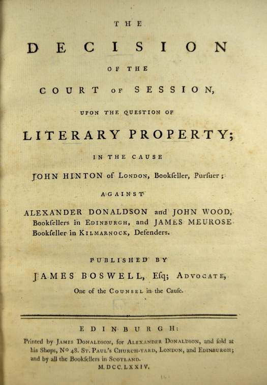 The title page of 'The Decision.'