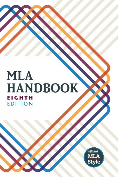 Cover of the 8th edition of the MLA Handbook