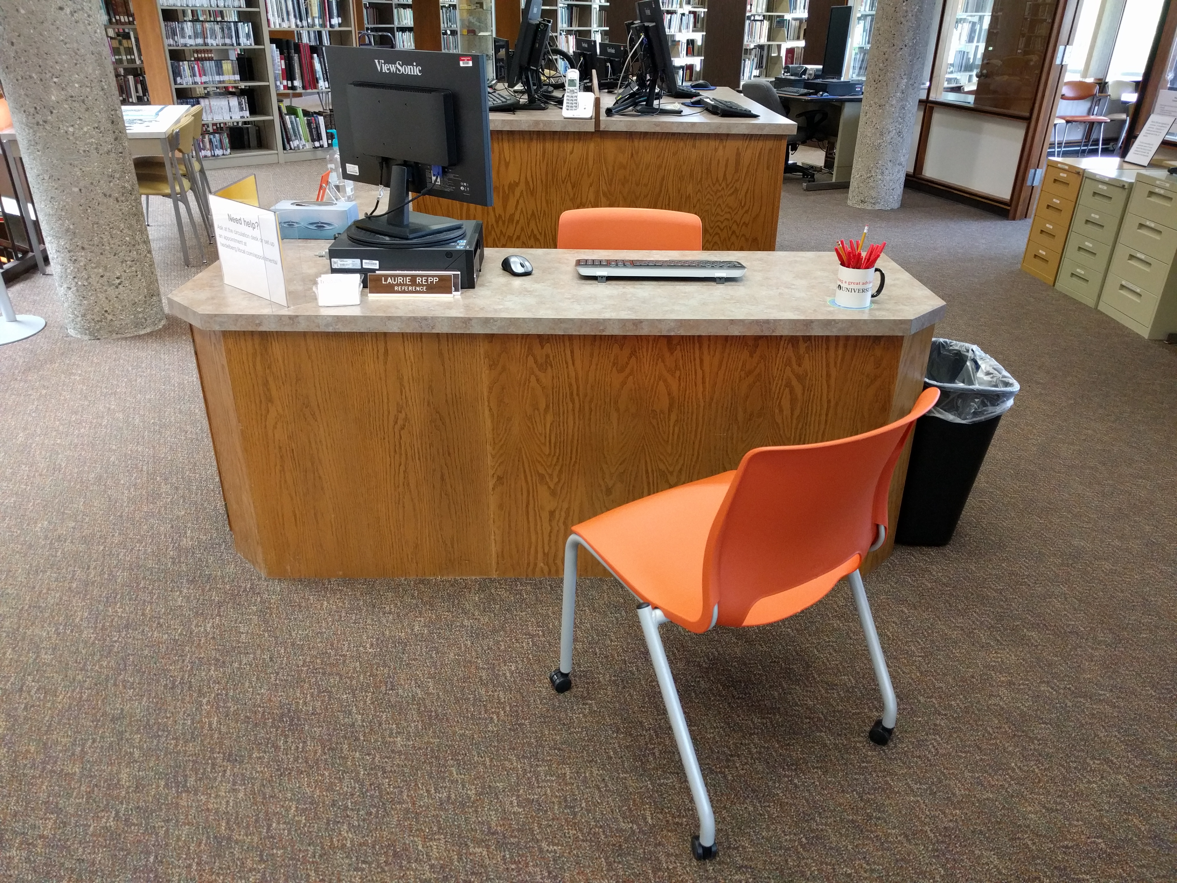 Image of the reference desk