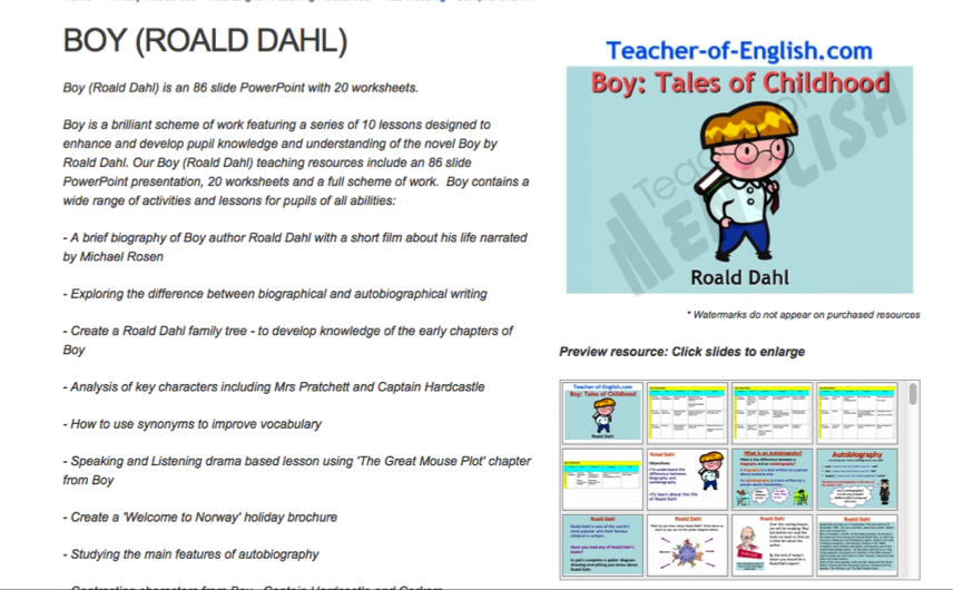 Boy Roald Dahl Author Collinson Library At St Stephens School