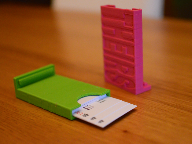 Resources 3d printing gerstein madlab research guides at organize your business cards and collected cards with these dual card holders on thingiverse more job hunting designs on colourmoves
