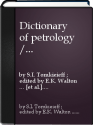 Dictionary of Petrology