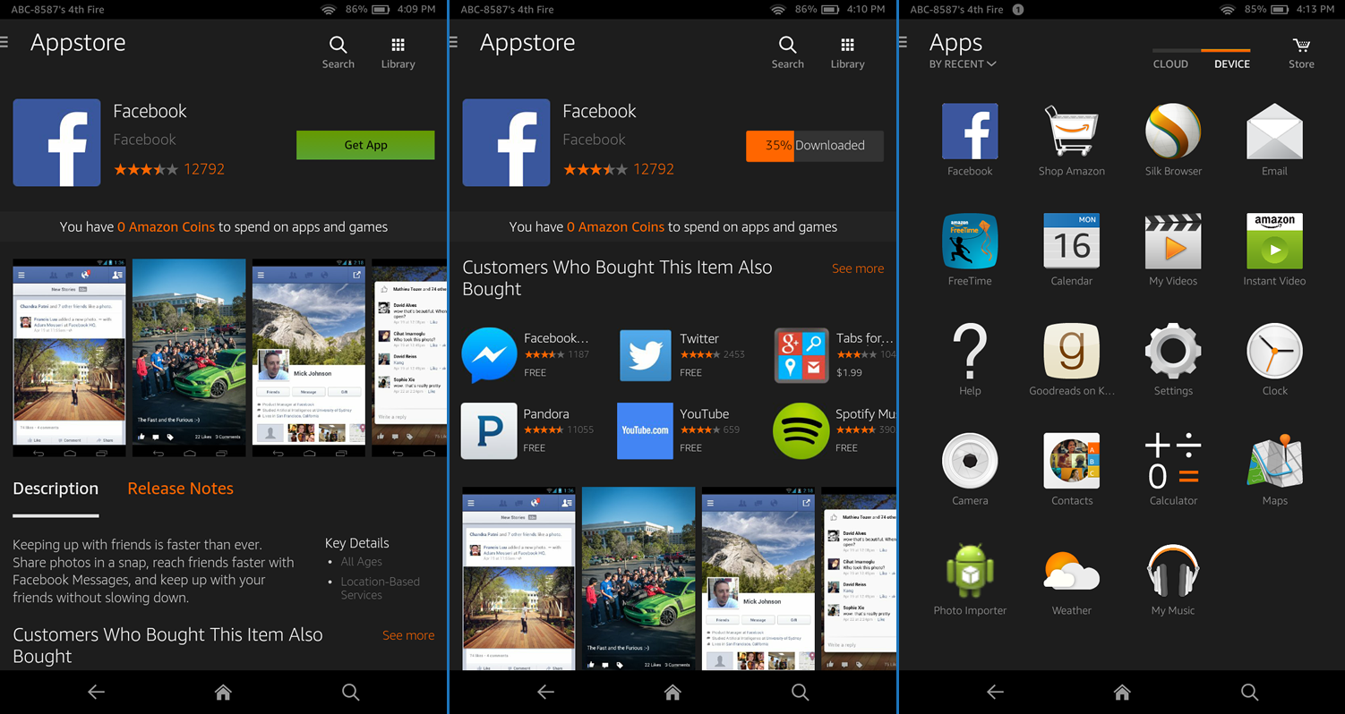 how to fire download apps tablet amazon