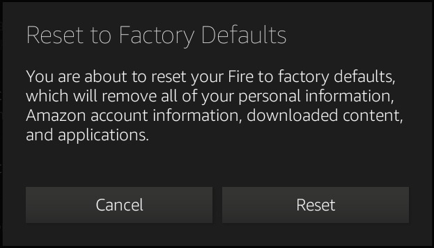 Factory Reset Kindle Fire Tablet - Kindle Fire tablets at