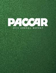 cover of PACCAR 2015 Annual Report