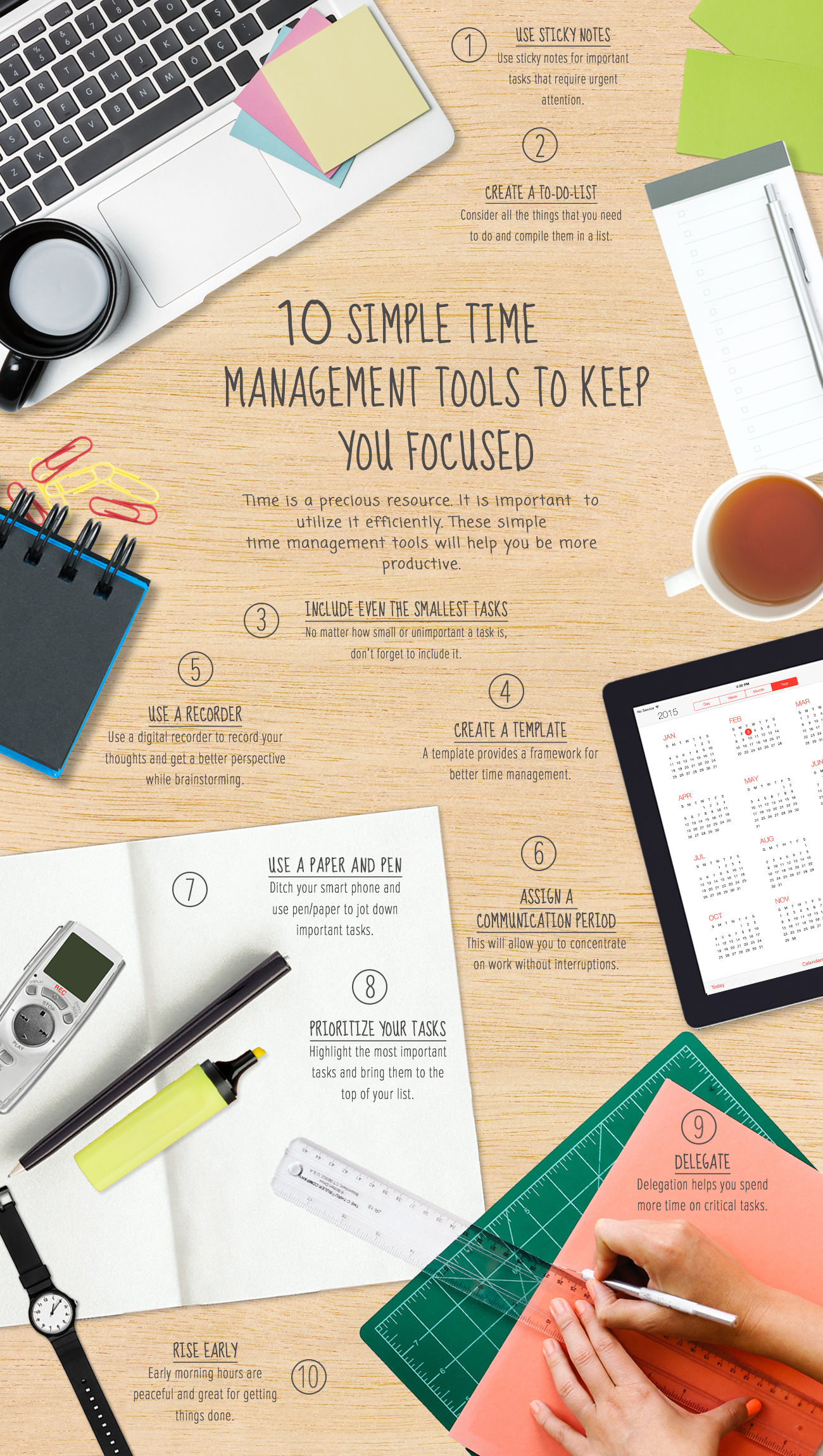 10 SIMPLE TIME MANAGEMENT TOOLS
