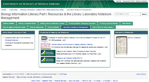 Laboratory Notebook Management page thumbnail