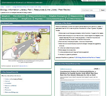Screenshot of Peer Review page