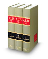 photo of A.L.R.6th volumes