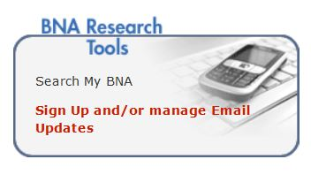 screen snip for BNA Email Updates