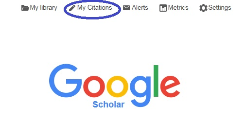 Google scholar google books tracking citations to articles screen snip google scholar home page ccuart Image collections