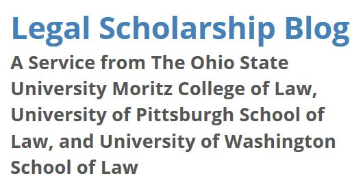 screen snip Legal Scholarship Blog