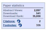 Paper Statistics screen snip