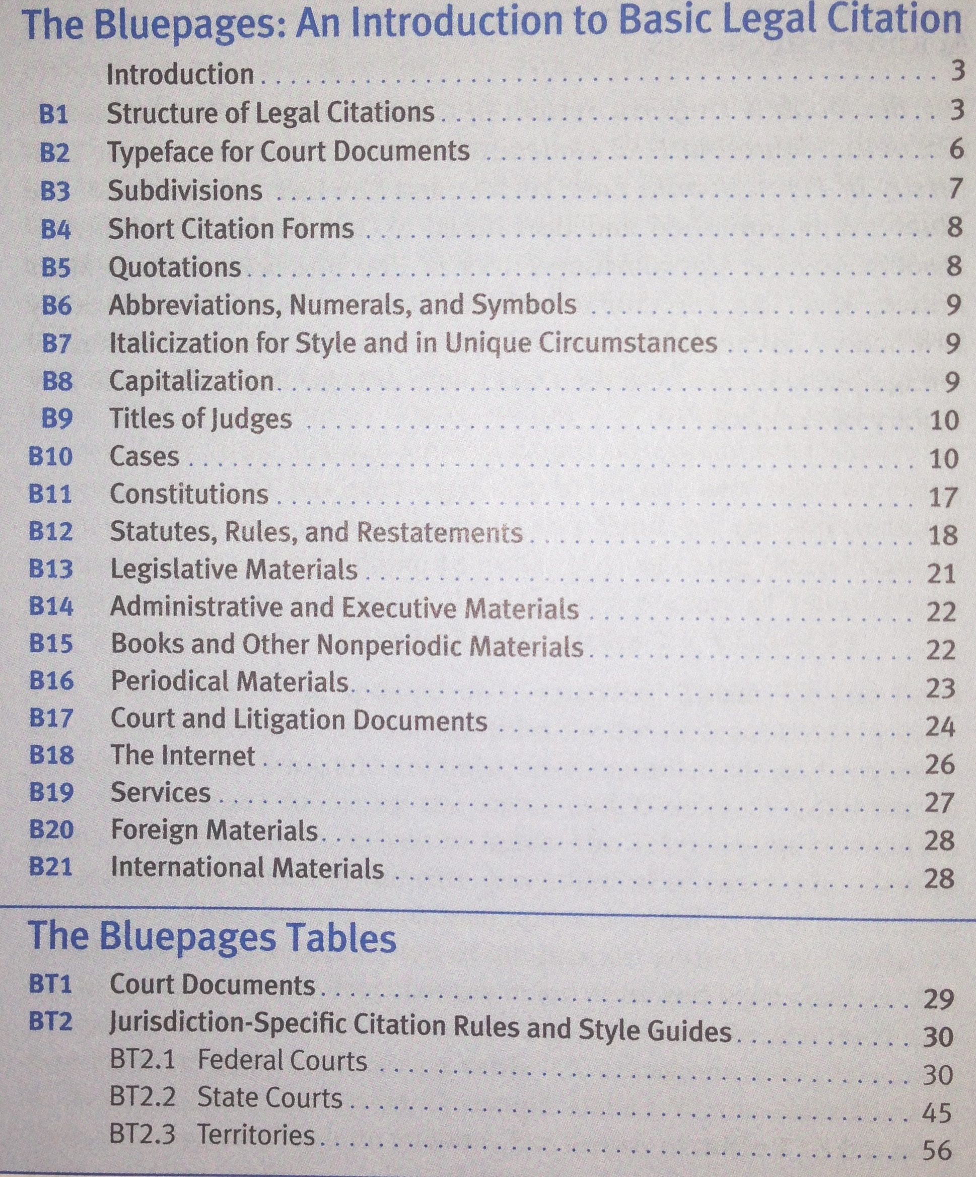 Basic Layout - Bluebook 101 - Library Guides at University