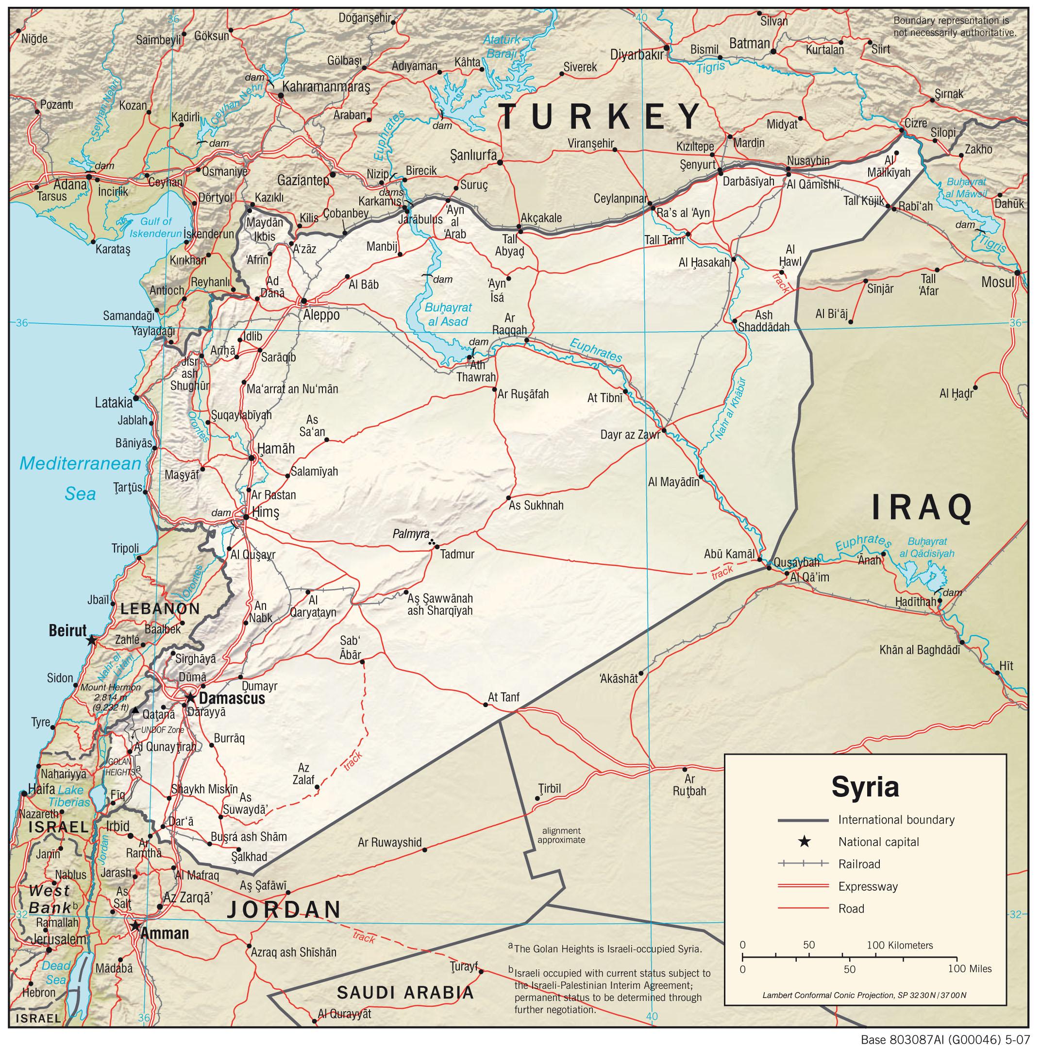 Maps - Syria - LibGuides at Naval War College Damascus Syria Map on baghdad map, amman jordan map, tel aviv, arabian sea map, golan heights map, bashar al-assad, rome italy map, damascus citadel, tunis tunisia map, pakistan map, world map, beirut lebanon map, ancient damascus map, asma al-assad, tripoli lebanon map, mid east map, middle east map, jerusalem map, damascus oregon map, kabul afghanistan map, istanbul map, algiers algeria map, bahrain map, damascus steel,