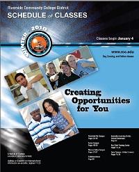 Riverside Community College District Schedule of Classes Winter 2010