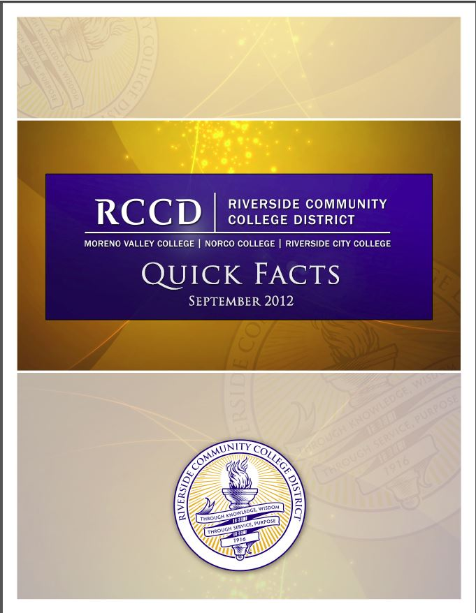 Riverside Community College Quick Facts 2012