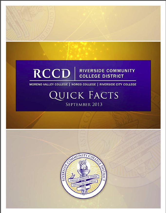 Riverside Community College Quick Facts 2013
