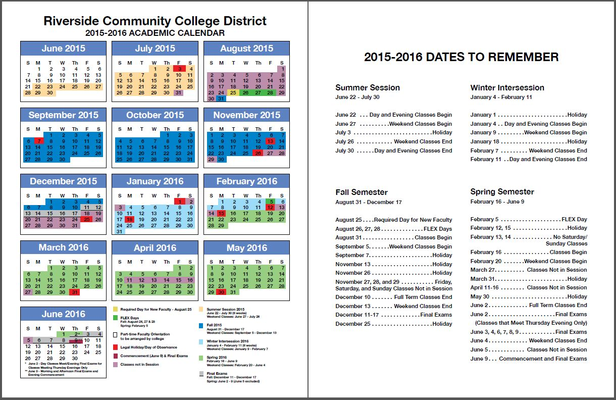 college school schedule