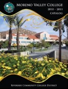 Moreno Valley College Catalog 2010-2011