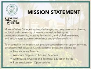 Moreno Valley College Mission Statement