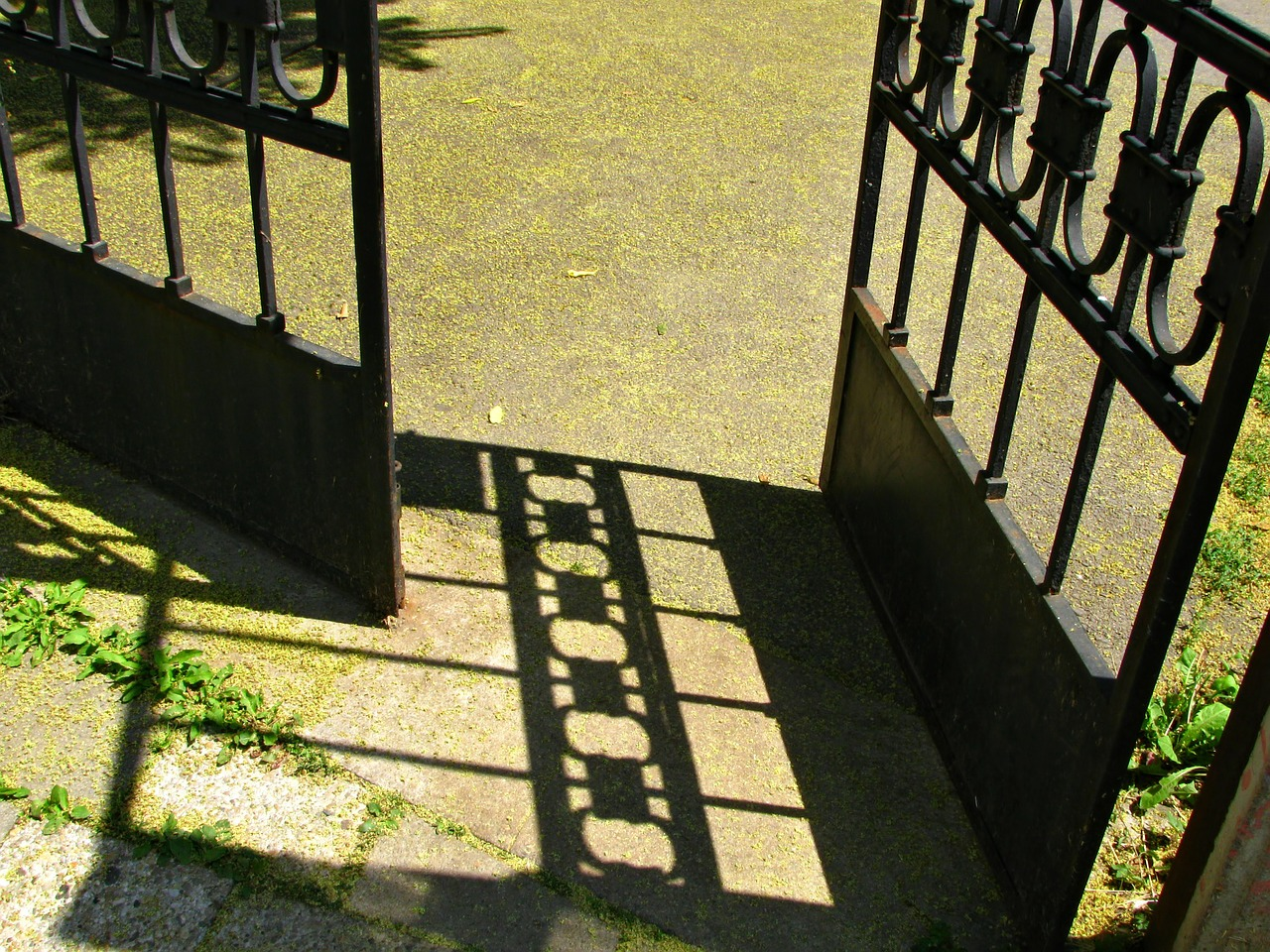 Picture of an open gate