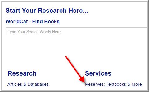 Find textbooks & class materials link