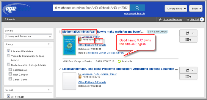 Search results for Mathematics Minus Fear