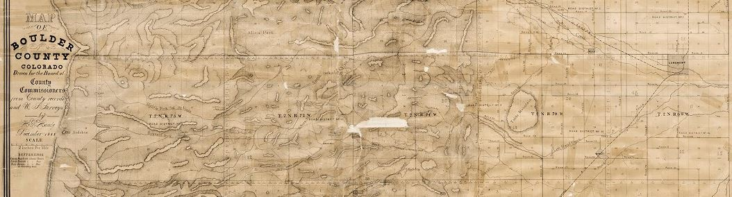 A portion of a Boulder County map from 1888