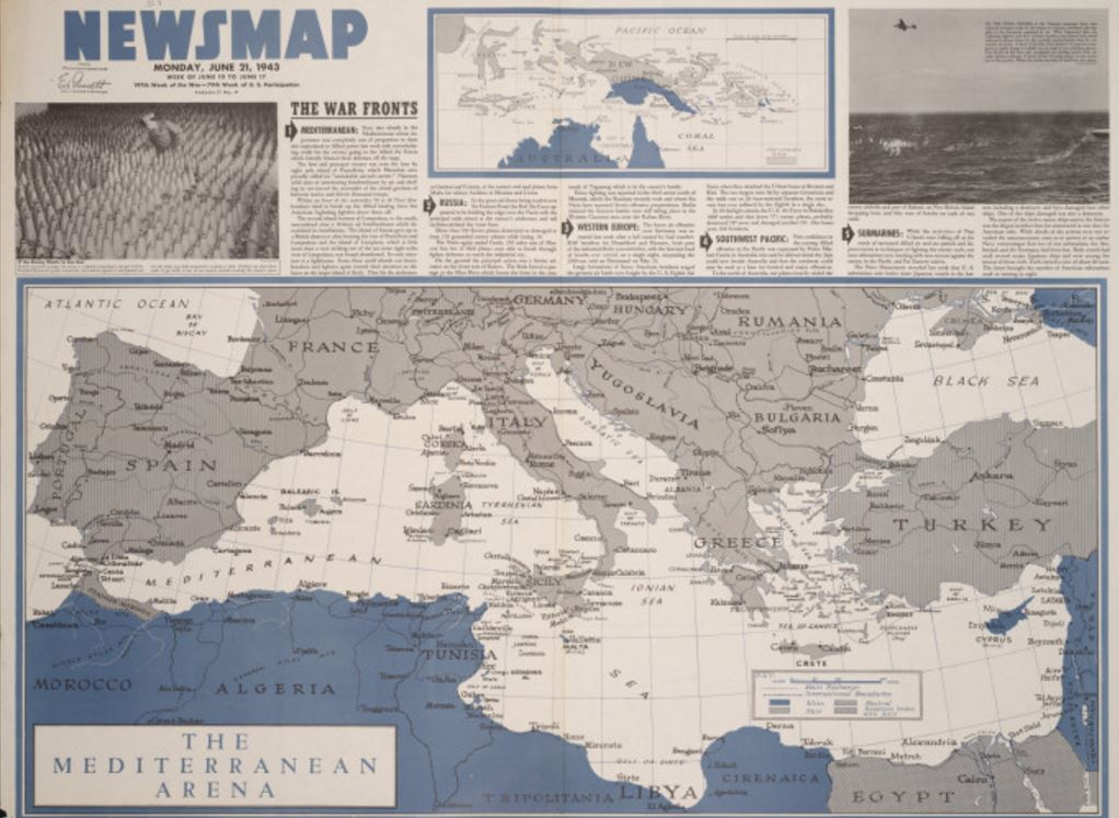 Newsmap from 1943