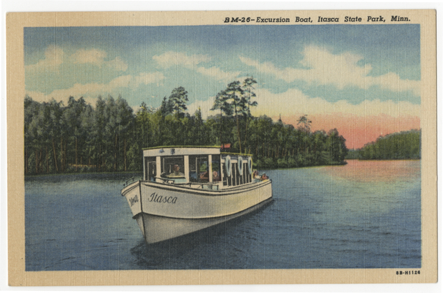 Excursion boat, Itasca State Park