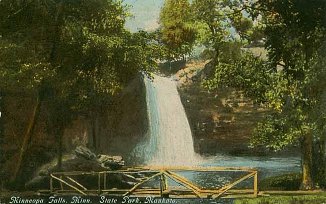 Minneopa Falls, Minneopa State Park, Mankato, c. 1915