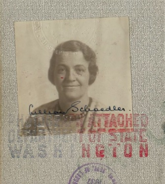 Lillian Schoedler's passport photo