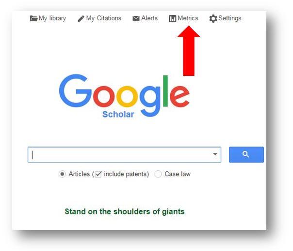 Google Journal Metrics Research Impact Metrics Citation
