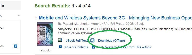 "Click the link labelled, ""Download (Offline)"""