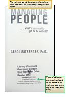 A marked up photo pointing where to find the place of publication in a book.