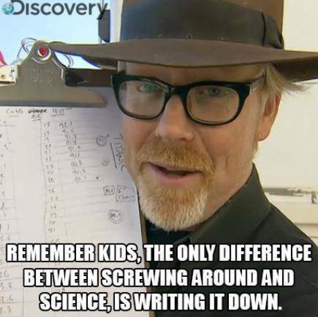 The difference between science...