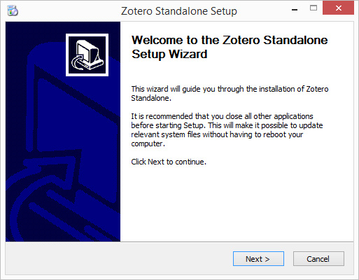Installing Zotero