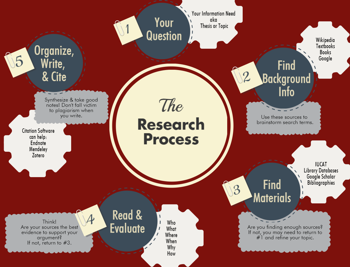 The Research Process Infographic