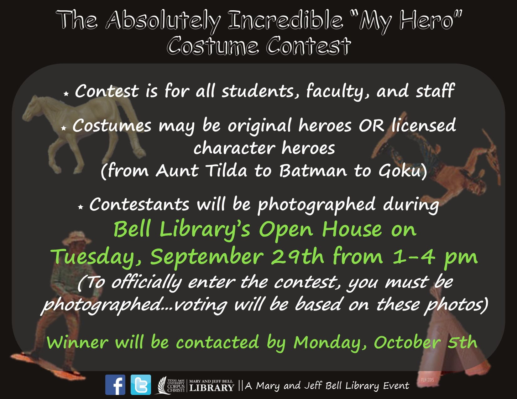 costume contest rules - bell library open house 2015 - research