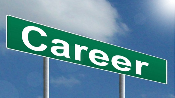 "Image: Street sign labeled ""Careers"""