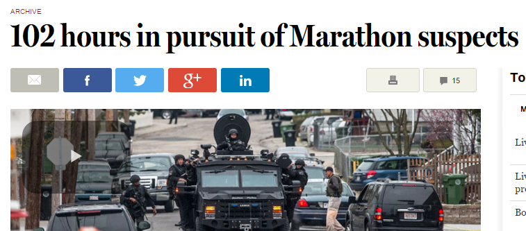102 hours in pursuit of Marathon bombing suspects   The Boston Globe
