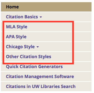 Citation Styles Guide