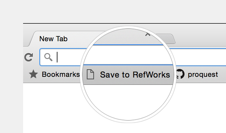Refworks bookmark example