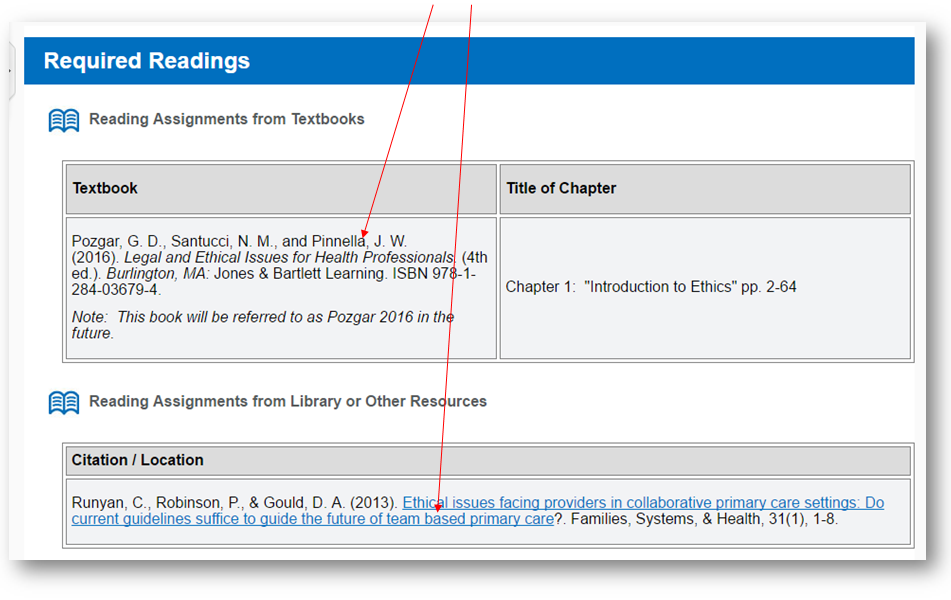 If you are citing course materials, use the citation from the Readings file.  It's already in APA format for you!