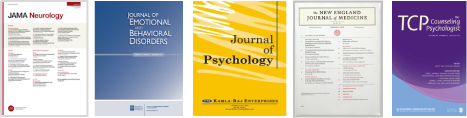 Examples of journals include JAMA Neurology, the New England Journal of Medicine, and the Journal of Psychology