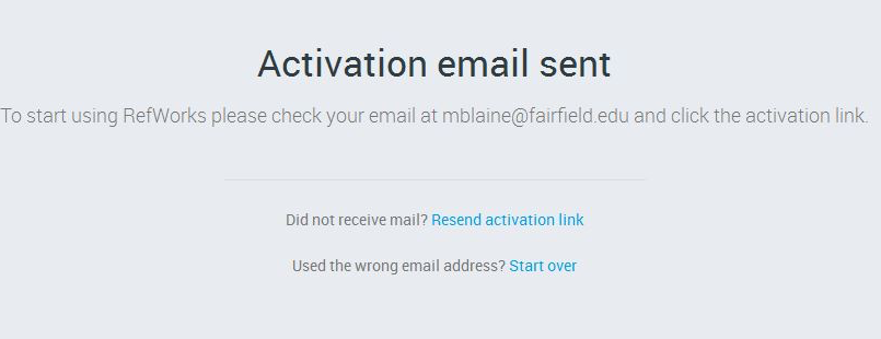 Activation email will be sent.