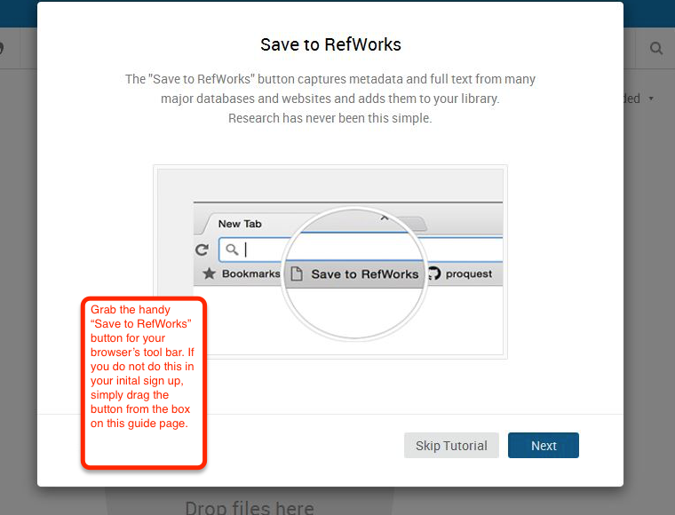 Save to RefWorks button.