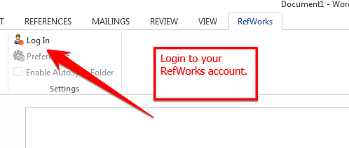 Login to RefWorks.