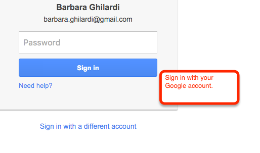 Sign in with your Google account.